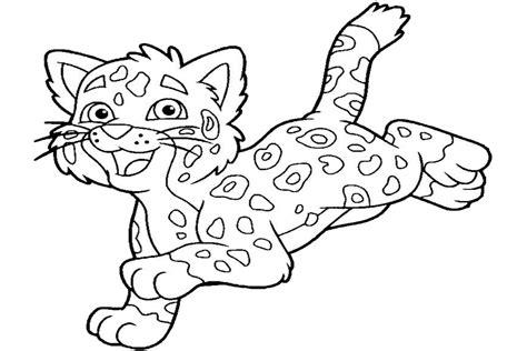 Coloring Jaguar by Coloring In A Tree Jaguar Coloring Pages