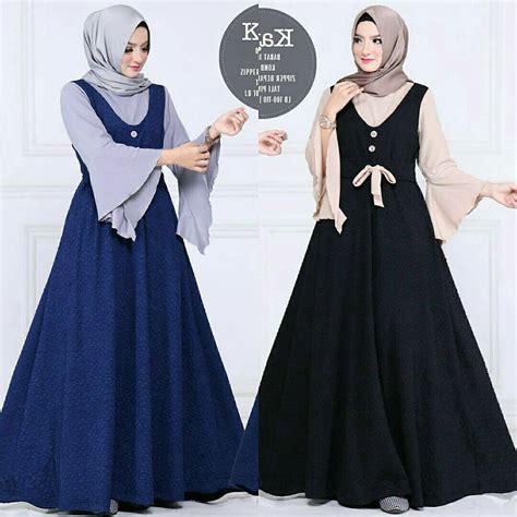 baju muslim terbaru kayla dress grosir baju muslim