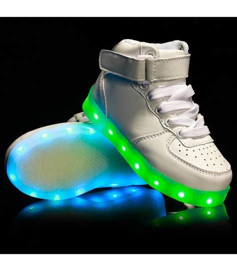 led light shoes for kid glidekicks kids juniors white high tops led sneakers