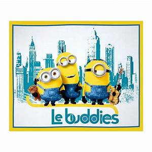 Minions Le Buddies 36 In Panel Turquoise/Yellow