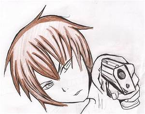 Anime Boy With Gun Drawing | www.pixshark.com - Images ...