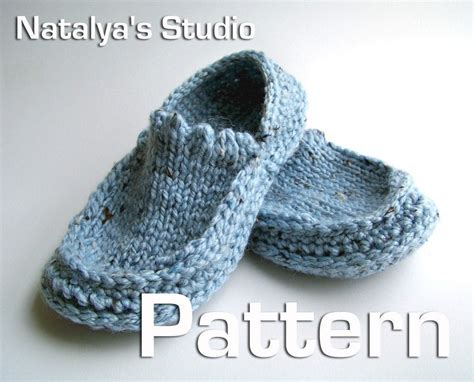 knit crochet slippers pattern moccasins  shoes booties