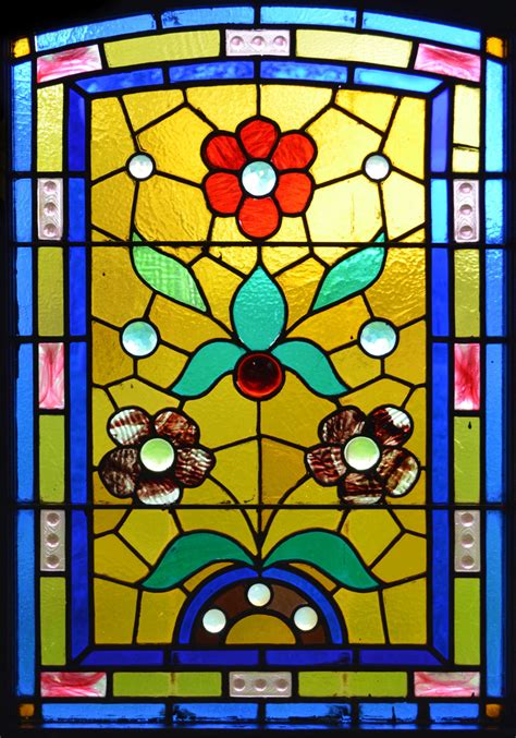 stained glass l patterns window film stained glass pattern flowers yellow blue