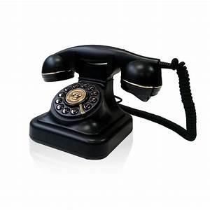 Telefono, Fijo, Antiguo, Vintage, Estilo, Retro, Negro
