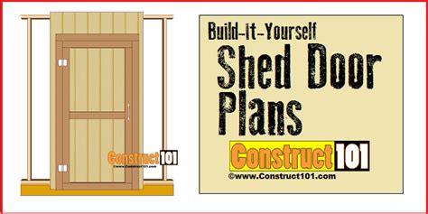 shed door plans by construct101