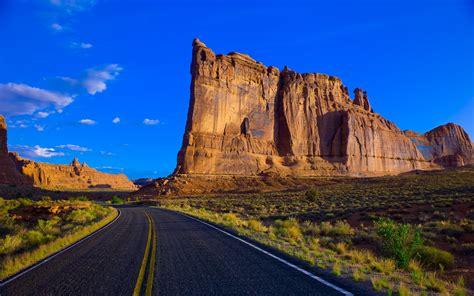 road   mountains fond decran hd arriere