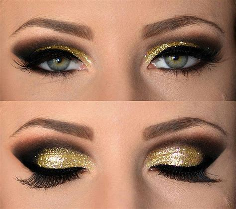 make up gold black and gold smokey eye makeup to look inspired top