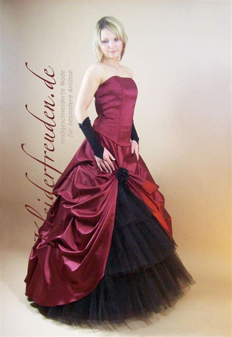 brautkleid schwarz rot romantisches brautkleid rot schwarz g 252 nstig kleiderfreuden