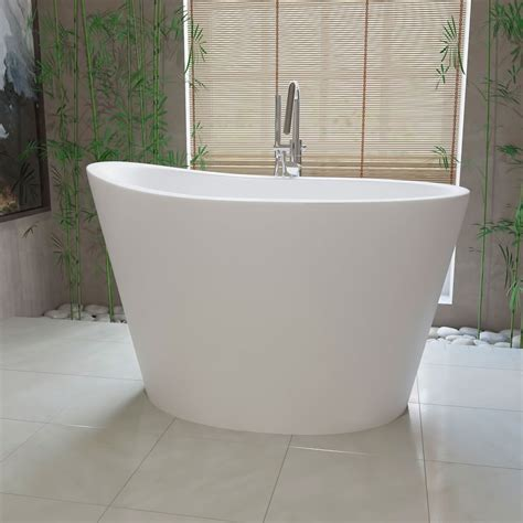 Ofuro Soaking Tubs by Aquatica True Ofuro 51 Inch Freestanding Japanese