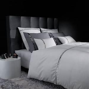 Parure liz t collection blanc lingedelit lit deco for Chambre a coucher adulte avec housse de couette blanche 200x200