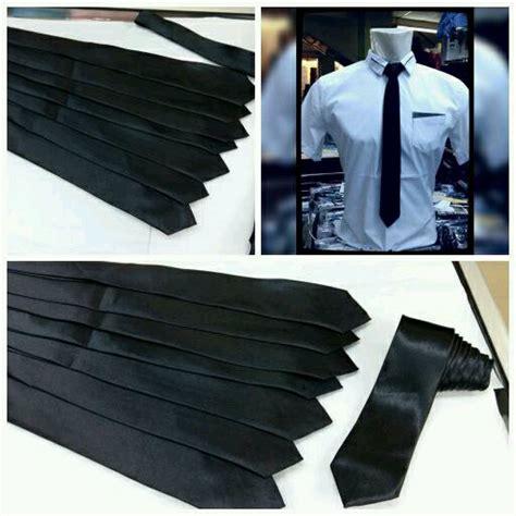 jual dasi hitam polos tinggal pakai di lapak