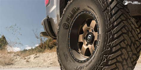 fuel wheels  podium matte bronze  black lip