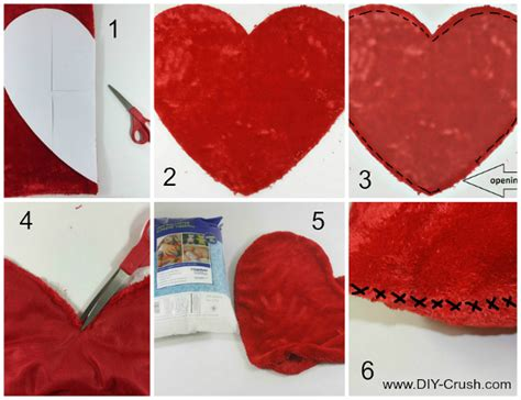 Free Valentine's Heart Pillow Sewing Pattern