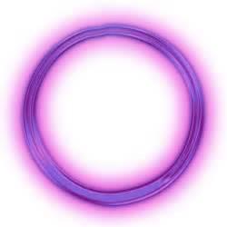 Transparent Neon Purple Circle