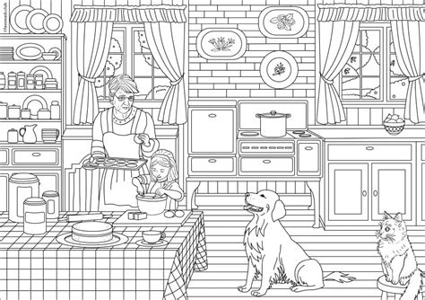 kitchen coloring page country coloring pages coloring pages 3384