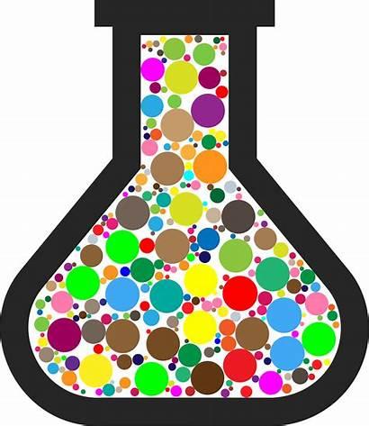 Chemistry Beaker Clipart Vector Colorful 1995