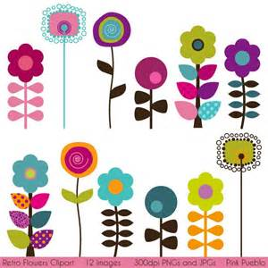 Retro Flower Clip Art