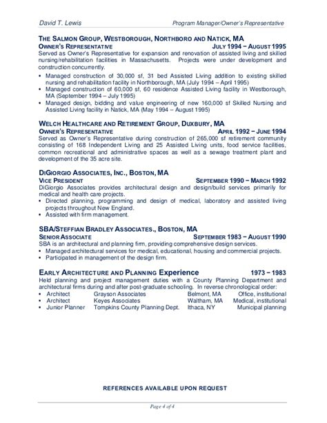Assisted Living Coordinator Resume by David T Lewis Unabridged Resume