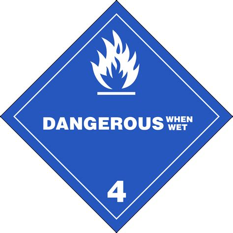 Class 4  Other Flammable Substances  Placards And Labels