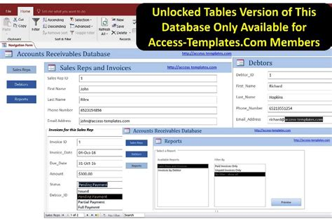 access templates for small business accounts receivable software for small business in access database for microsoft access 2016