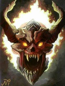 DOOM Lost Soul Painting by Xous54 on DeviantArt