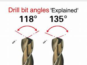 Drill bit angles 'Easily Explained', recommended angles