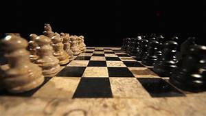 Chess Figures Facing Each Other On A Chess Table Isolated ...