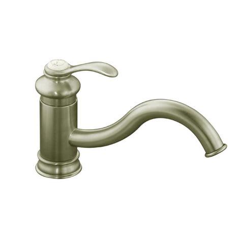kitchen faucet kohler shop kohler fairfax vibrant brushed nickel 1 handle low