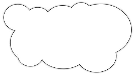 thinking cloud writing template color cloud clipart clip art library