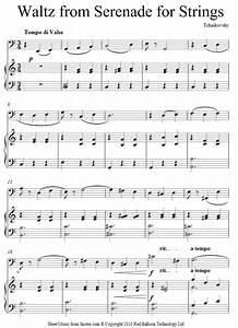 Tchaikovsky - Waltz from Serenade for Strings sheet music ...
