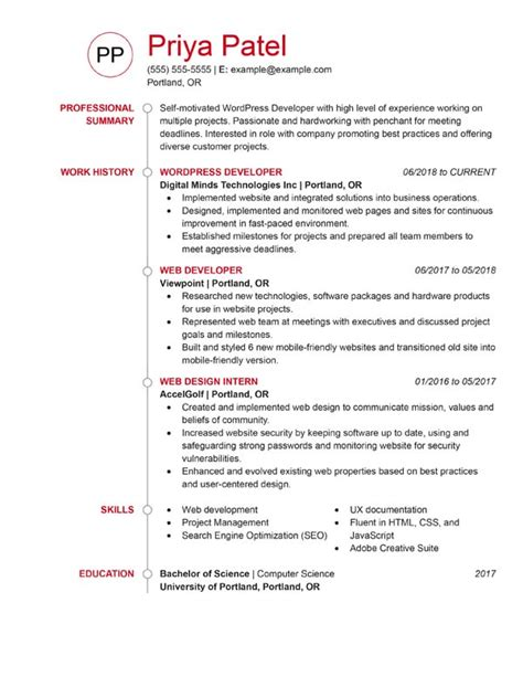Best Sle Resume Format by 3 Resume Formats For 2019 5 Minute Guide