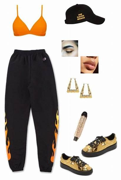 Polyvore Outfits Swag Performance Pumas Kpop Clothes