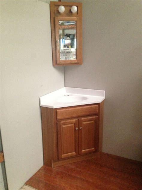 oak corner vanity cabinet wtop med cabinet ebay