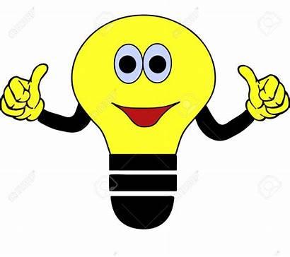 Bulb Clipart Illustration Smiling Cartoon Bulbs Face