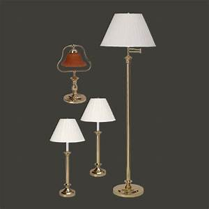 table floor lamp bright brass traditional 4 pc lamp set With traditional floor lamp with matching table lamp