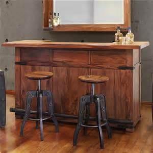 International furniture direct parota 70 inch console for Home bar furniture in san antonio