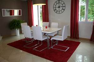 stunning salle a manger rouge et noir images lalawgroup With salle a manger rouge