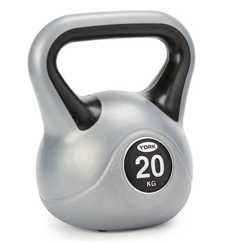 york vinyl kettlebell kg kettlebells fitness 20kg weights