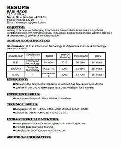 Download Resume Formats  U0026 Pdf Templates