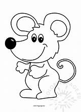 Mouse Cartoon Illustration Vector Coloring Coloringpage sketch template