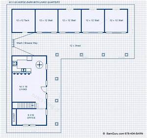 crav instant get small horse barn plans with living quarters With 4 stall horse barn designs