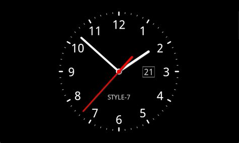 Animated Clock Wallpaper Windows 7 - analog clock live wallpaper 7 appstore for