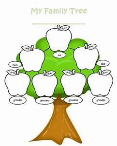 blank family tree template welcome to the kindergarten With preschool family tree template
