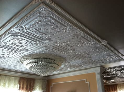 craftsman style bathroom ideas faux tin ceiling tiles spaces with ceiling chandelier