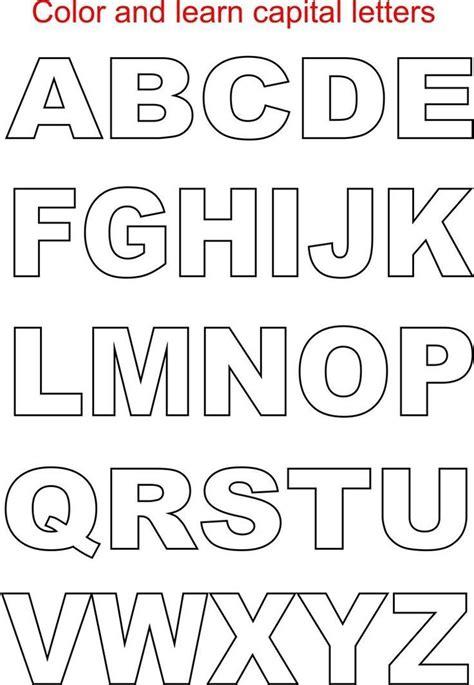 free printable alphabet letters block letter alphabet printable sle letter template 53250