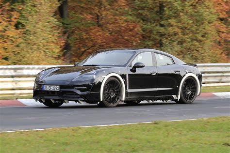 Porsche Mission E Spotted Testing At The Nurburgring