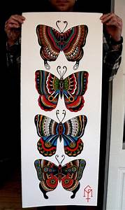 butterfly traditional tattoo | old school tattoo ...