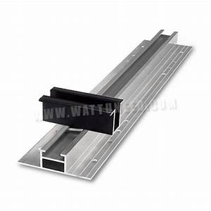 Fixation Panneau Solaire : mounting rail for trapezoidal roofs trapeze light middle claim ~ Dallasstarsshop.com Idées de Décoration