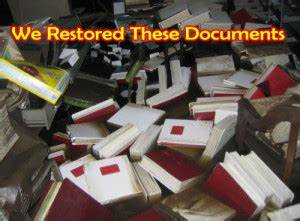 document restoration document freeze drying water With historic document restoration services