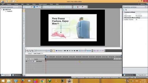 add text animation  video  vsdc doovi